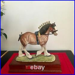 Border Fine Arts Horse rare Gold Edition VICTORY at the HIGHLAND superb