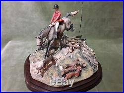 Border Fine Arts Hunting Scene'full Cry' Limited Edition 244/300 By David