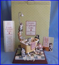 Border Fine Arts IN THE TUB COMIC & CURIOUS CATS LTD ED BOX & CERT RARE