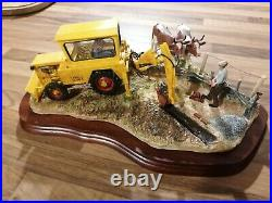 Border Fine Arts Laying The Clays JCB 1 Excavator Boxed Rare Version Certificate