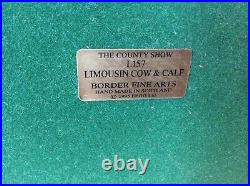 Border Fine Arts Limousin Cow & Calf Style one L157 limited edition