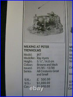 Border Fine Arts' Milking At Peter Trenholms By Ray Ayres