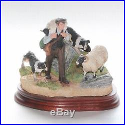 Border Fine Arts, On The Hill, B0877, Sheep, Boxed
