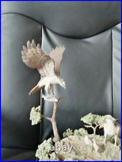 Border Fine Arts Osprey Family In Tree Ltd. Ed. 91/350 Ayres
