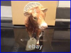 Border Fine Arts Pottery Company. Blonde D'Aquitaine cow A5256 @
