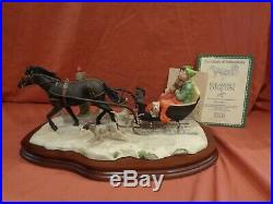 Border Fine Arts Schmid Ltd Ed Lowell Davis What Rat Race Horse and Sledge