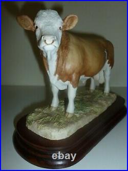 Border Fine Arts Simmental Bull L102 BOXED with certificate