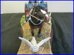Border Fine Arts' Steady steady' Horse Drawn Milkcart By Hans Kendrick