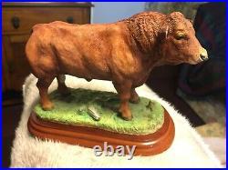Border Fine Arts Studio Cattle Country Show A0739 Limousin Bull