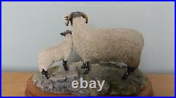 Border Fine Arts'Swaledale Ewe And Lamb, Style One Limited Edition 1027/1250