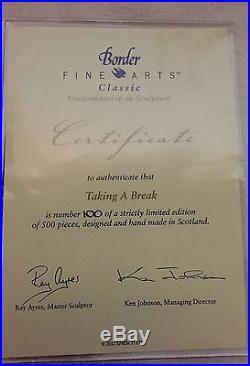 Border Fine Arts Taking A Break (fordson & Reaper Binder) B1389 Ltd Ed 100/500