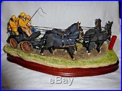 Border Fine Arts Team Work Figurine Ltd Ed 4 Horse Trap Nib Impressive Large