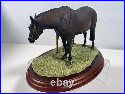 Border Fine Arts Thoroughbred Mare & foal by A Wall Limited Brand new A0147 2000