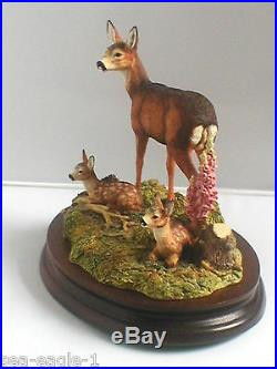 Border Fine Arts, Very Rare, Excl. Society Piece, IN A SUNNY GLADE, Deer, 1999, MIB