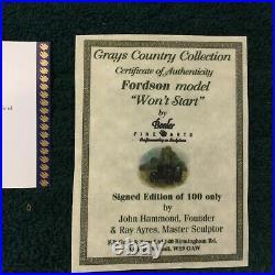 Border Fine Arts Wont Start #b0299 Hand Signed Mint In Original Box Very Rare
