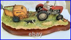Border Fine Arts tractor'HAY TURNING'Ltd EdN. JH110 MINT IN BOX with cert