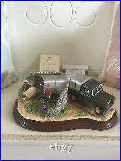 Border fine arts. BACK FROM THE AUCTION. Landrover Trailer Sheep BRAND NEW