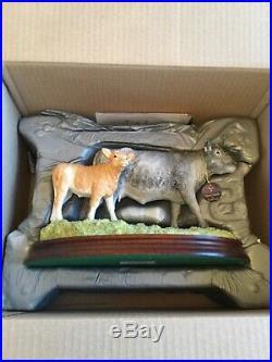 Border fine arts BLUE GREY COW with CROSSBRED CALF BRAND NEW PRE XMAS SALE