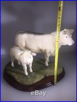 Border fine arts Charolais Cow And Calf B0742 Ltd Ed 730/750. Boxed