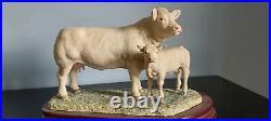 Border fine arts Charolais cow and calf, limited edition