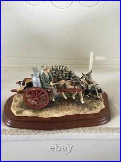 Border fine arts DELIVERING THE MILK. Donkey Cart