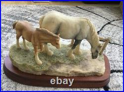 Border fine arts Gently grazing shire mare and foal rare colour JH33A ltd editio