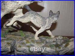 Border fine arts Large Free Spirits STW08 LE 1500, Spirit of the wolf Box Cert