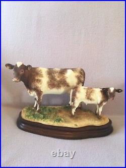 Border fine arts SHORTHORN COW and CALF