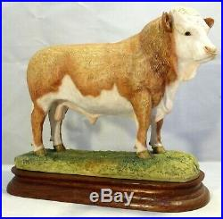 Border fine arts Specially painted Simmental Bull Wall L18 LE850