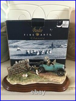 Border fine arts THE CHASE. Austin Seven Ruby Vet and Collies. BOXED