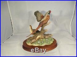 Border fine arts Taking Flight Brace of Pheasants B0183 Birds