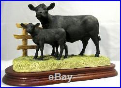Border fine arts Very rare Aberdeen Angus Cow and Calf B0204 LE1250 box&cert