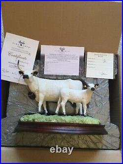 Border fine arts WHITE PARK COW and CALF BRAND NEW