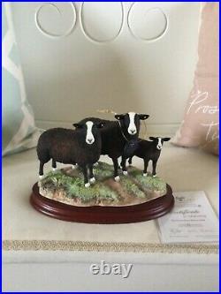 Border fine arts ZWARTBLE FAMILY (Ram Ewe and Lamb) BRAND NEW