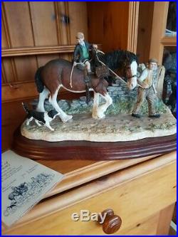 Border fine arts classic collection, Home From School, limited edition Horse