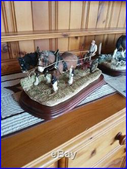 Border fine arts hay cutting starts today horse. Farm. Limited edition 1999
