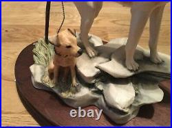 Border fine arts rare fell hound with Lakeland terrier L92 limited edition 750