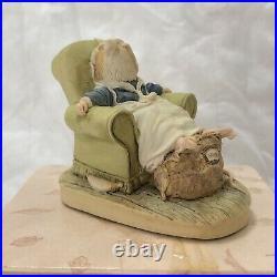 Brambly Hedge Border Fine Arts Rare Poppy Asleep in Chair BH72