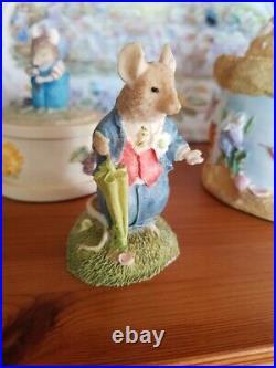 Brambly Hedge rare figurine groom with umbrella