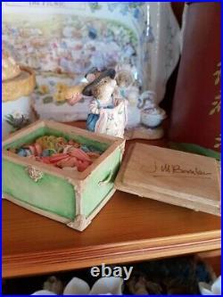 Brambly Hedge rare signed Jill Barklem Merry midwinter Trinket box. Ltd