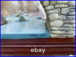 Comic & Curious Cat Gone Fishing n°1496 Cat Collection Border Fine Art