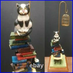 Comic Curious Cats Border Fine Arts Linda Jane Smith Whodunnit Figurine Signed