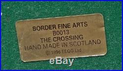 Detailed Border Fine Arts The Crossing (shepherd, Sheep & Collie) Figure-ayres