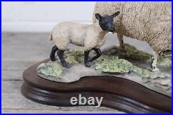 Fine Border Arts Hand Made Large Mule Ewe & Lambs EG03 by Mairi Laing Hunt