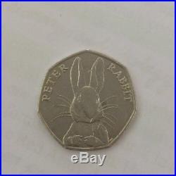 Half Whisker Peter Rabbit 50p Coin