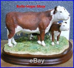Hereford Kühe Family Figur, Border Fine Arts Classic limitiert, Hereford Bull