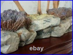 Large Border Fine Arts Highland Family Deer Hand Made In Scotland B0306 Roberts