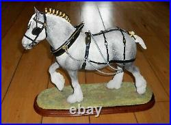 Large Limited Border Fine Arts B0888A The Champion Shire Grey Horse Figurine