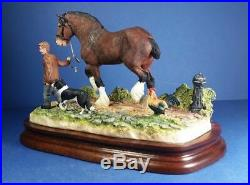 Large Splendid Border Fine Arts Off To The Smithy Bay B0955a Boxed