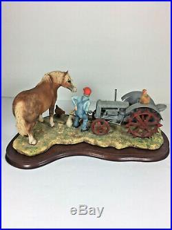 Lowell Davis LAST LAFF Belgian Horse Tractor Border Fine Arts 1992 Schmid Ltd Ed